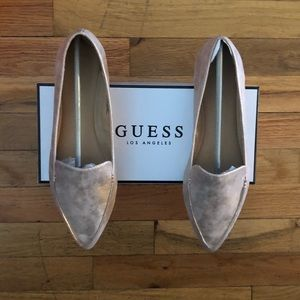 Guess rose gold loafers